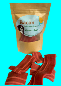 Bacon flavored cbd pet treat
